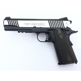 Colt 1911 Rail Gun CO2 bicolore