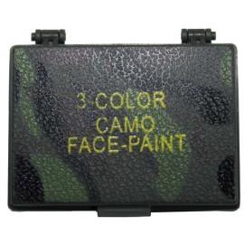 Camouflage face paint con specchio